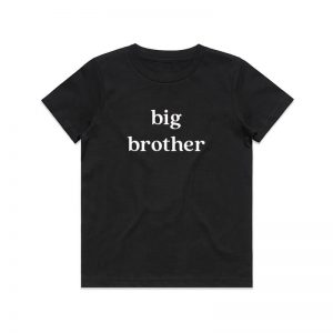 Coda Design Studio - Personalised Clothing for the Whole Family - Kids Tee Black Big Brother
