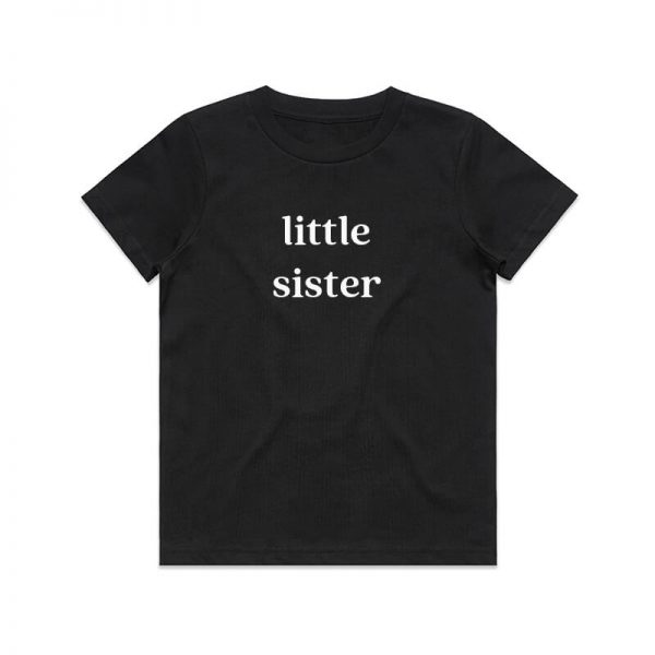 Coda Design Studio - Personalised Clothing for the Whole Family - Kids Tee Black Little Sister