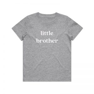 Coda Design Studio - Personalised Clothing for the Whole Family - Kids Tee Grey Marle Little Brother