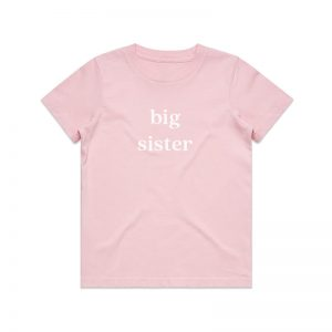 Coda Design Studio - Personalised Clothing for the Whole Family - Kids Tee Pink Big Sister