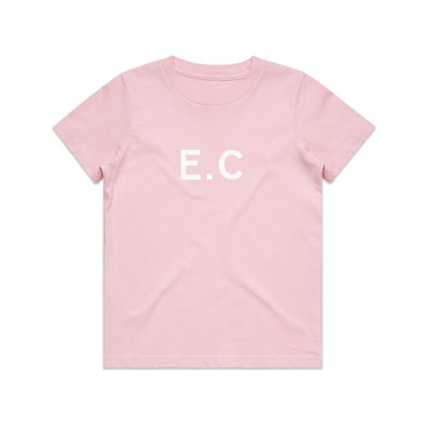 Coda Design Studio - Personalised Clothing for the Whole Family - Kids Tee Pink Initial Name