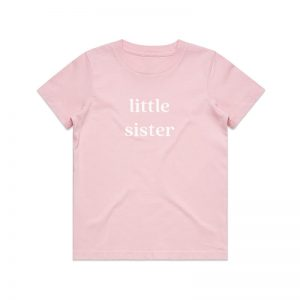 Coda Design Studio - Personalised Clothing for the Whole Family - Kids Tee Pink Little SIster