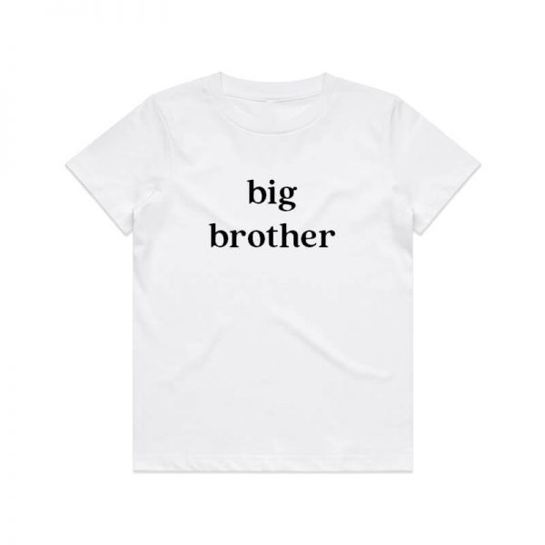 Coda Design Studio - Personalised Clothing for the Whole Family - Kids Tee White Big Brother