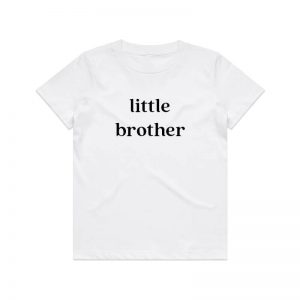 Coda Design Studio - Personalised Clothing for the Whole Family - Kids Tee White Little Brother