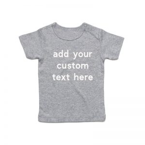 Coda Design Studio - Personalised Clothing for the Whole Family - Baby Tee Grey Marle Custom