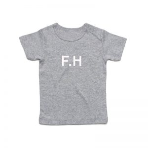 Coda Design Studio - Personalised Clothing for the Whole Family - Baby Tee Grey Marle Initial Name