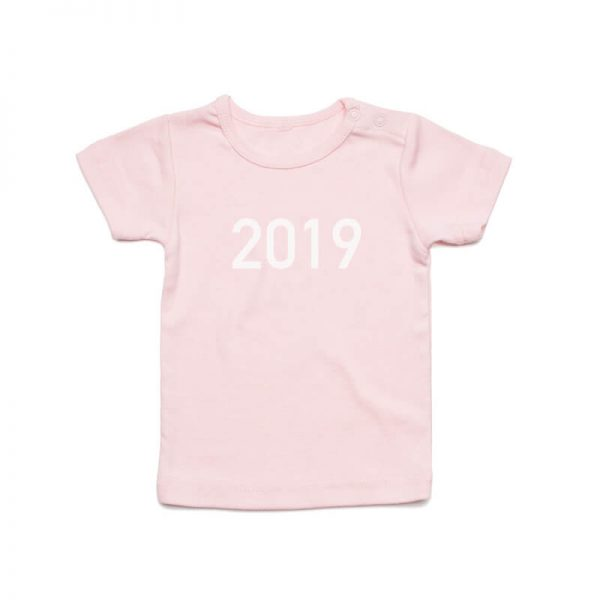 Coda Design Studio - Personalised Clothing for the Whole Family - Baby Tee Pink Year Born