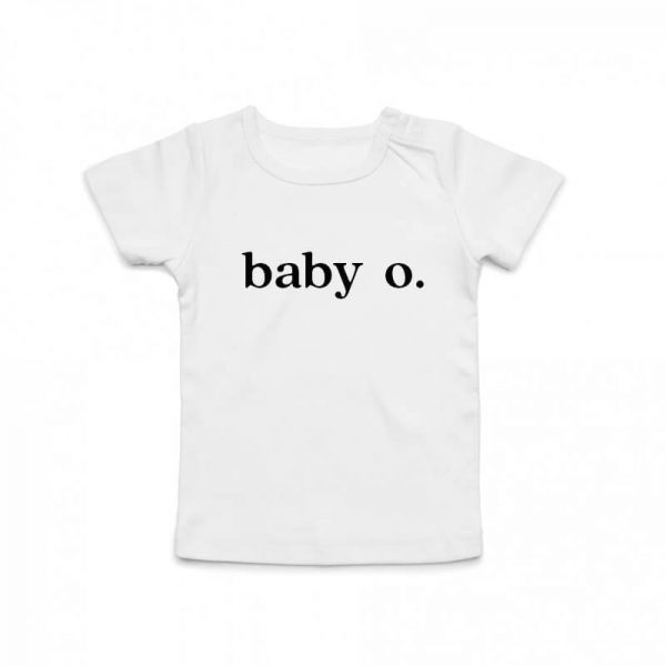 Coda Design Studio - Personalised Clothing for the Whole Family - Baby Tee White Baby Letter Name