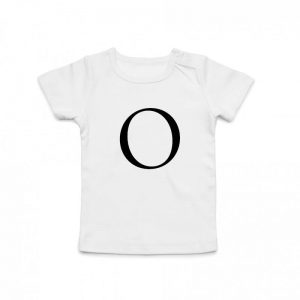 Coda Design Studio - Personalised Clothing for the Whole Family - Baby Tee White Big Letter Name