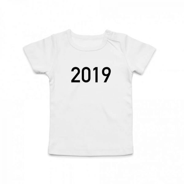 Coda Design Studio - Personalised Clothing for the Whole Family - Baby Tee White Year Born