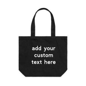 Coda Design Studio - Personalised Clothing & Accessories for the Whole Family - Cotton Canvas Tote Bag Custom Black