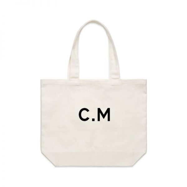 Coda Design Studio - Personalised Clothing & Accessories for the Whole Family - Cotton Canvas Tote Bag The Initial Tote