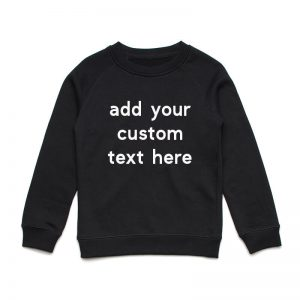 Coda Design Studio - Personalised Clothing for the Whole Family - Kids Jumper Black Custom