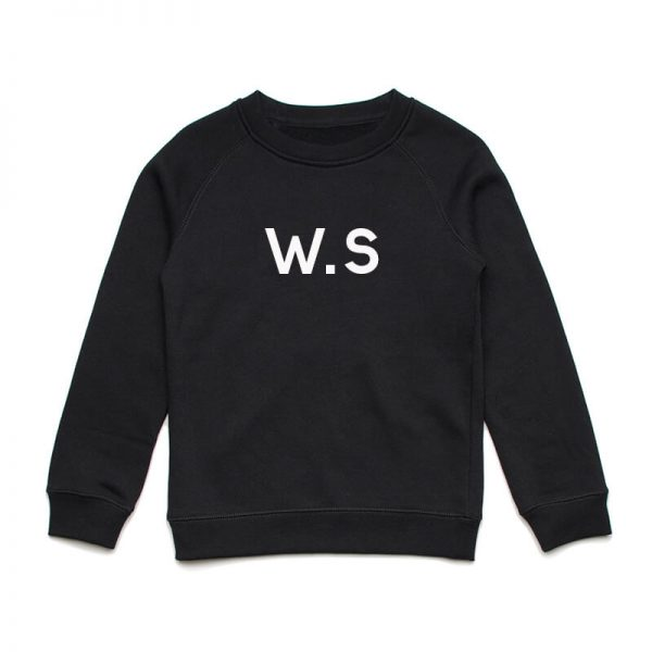 Coda Design Studio - Personalised Clothing for the Whole Family - Kids Jumper Black Initial Name
