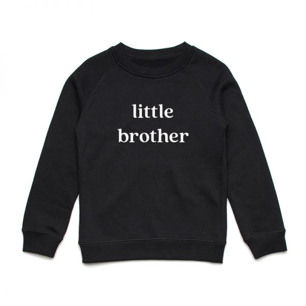 Coda Design Studio - Personalised Clothing for the Whole Family - Kids Jumper Black Little Brother