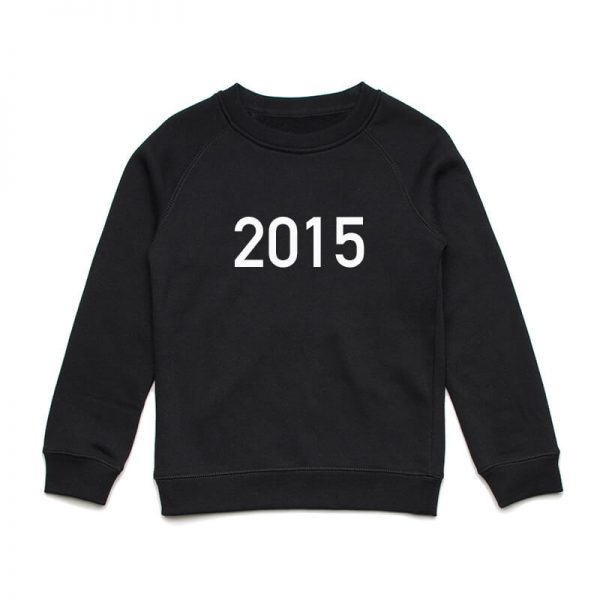 Coda Design Studio - Personalised Clothing for the Whole Family - Kids Jumper Black Year Born