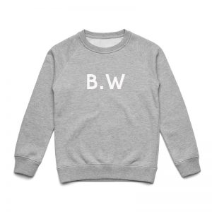 Coda Design Studio - Personalised Clothing for the Whole Family - Kids Jumper Grey Marle Initial Name