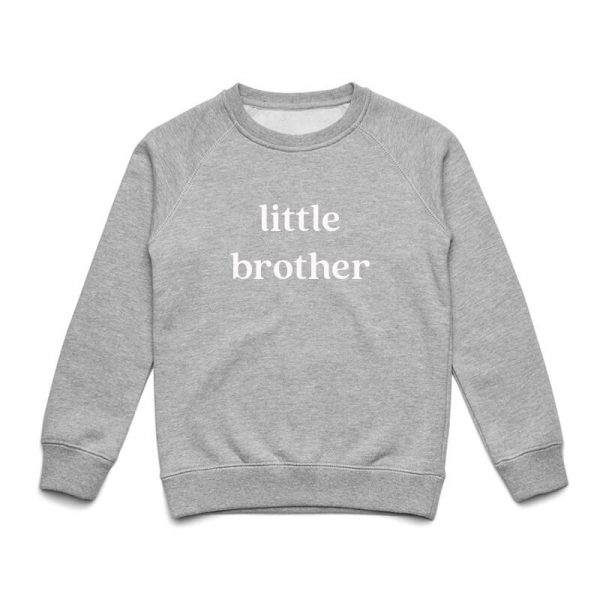 Coda Design Studio - Personalised Clothing for the Whole Family - Kids Jumper Grey Marle Little Brother