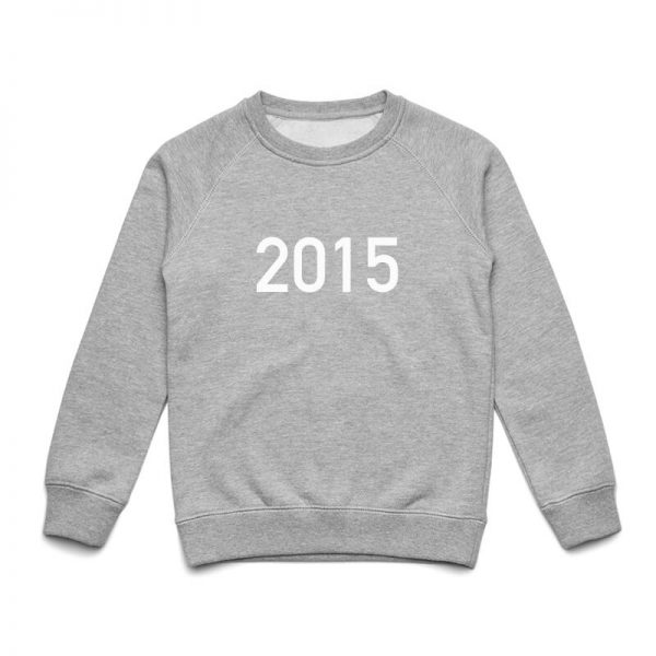 Coda Design Studio - Personalised Clothing for the Whole Family - Kids Jumper Grey Marle Year Born
