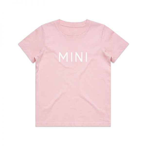Coda Design Studio - Personalised Clothing for the Whole Family - Kids Tee Pink Mini