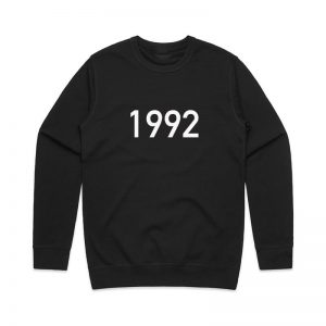 Coda Design Studio - Personalised Clothing for the Whole Family - Mens Jumper Black Year