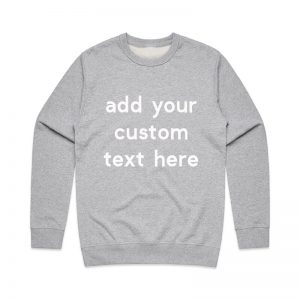 Coda Design Studio - Personalised Clothing for the Whole Family - Mens Jumper Grey Marle Custom