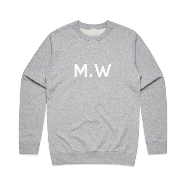 Coda Design Studio - Personalised Clothing for the Whole Family - Mens Jumper Grey Initials