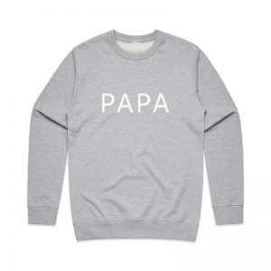 Coda Design Studio - Personalised Clothing for the Whole Family - Mens Jumper Grey Papa