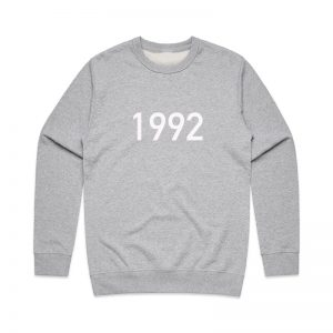 Coda Design Studio - Personalised Clothing for the Whole Family - Mens Jumper Grey Year
