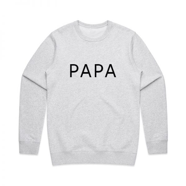 Coda Design Studio - Personalised Clothing for the Whole Family - Mens Jumper White Marle Papa