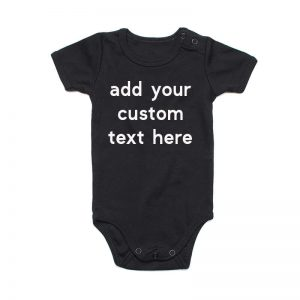 Coda Design Studio - Personalised Clothing for the Whole Family - Baby Onesie Black Custom