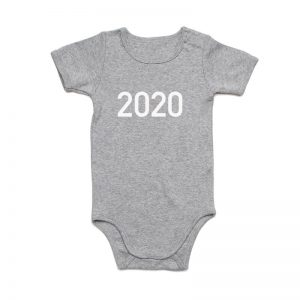 Coda Design Studio - Personalised Clothing for the Whole Family - Baby Onesie Grey Marle Year Born