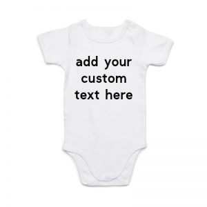 Coda Design Studio - Personalised Clothing for the Whole Family - Baby Onesie White Custom