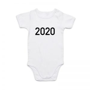 Coda Design Studio - Personalised Clothing for the Whole Family - Baby Onesie White Year Born