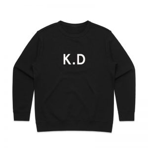Coda Design Studio - Personalised Clothing for the Whole Family - Womens Jumper Black Initials