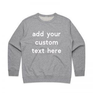 Coda Design Studio - Personalised Clothing for the Whole Family - Womens Jumper Grey Marle Custom