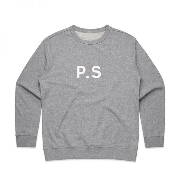 Coda Design Studio - Personalised Clothing for the Whole Family - Womens Jumper Grey Initials