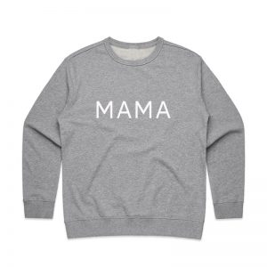 Coda Design Studio - Personalised Clothing for the Whole Family - Womens Jumper Grey Mama