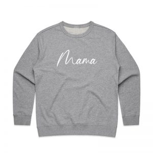 Coda Design Studio - Personalised Clothing for the Whole Family - Womens Jumper Grey Script Mama