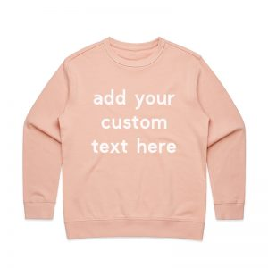 Coda Design Studio - Personalised Clothing for the Whole Family - Womens Jumper Pink Custom