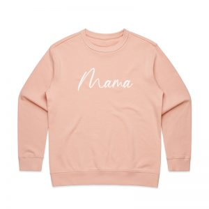 Coda Design Studio - Personalised Clothing for the Whole Family - Womens Jumper Pink Script Mama