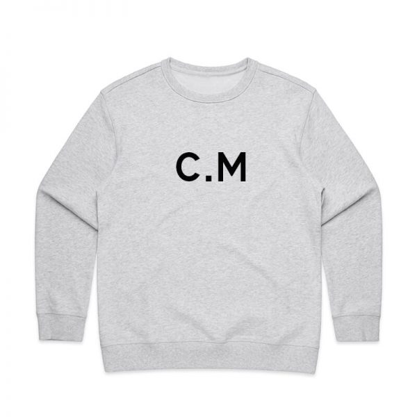 Coda Design Studio - Personalised Clothing for the Whole Family - Womens Jumper White Marle Initials