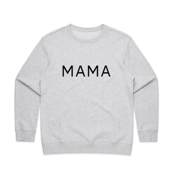 Coda Design Studio - Personalised Clothing for the Whole Family - Womens Jumper White Marle Mama
