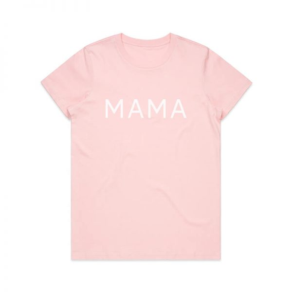 Coda Design Studio - Personalised Clothing for the Whole Family - Womens Tee Pink Mama