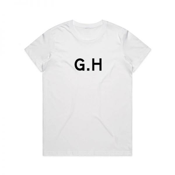 Coda Design Studio - Personalised Clothing for the Whole Family - Womens Tee White Initial Name