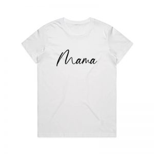 Coda Design Studio - Personalised Clothing for the Whole Family - Womens Tee White Script Mama